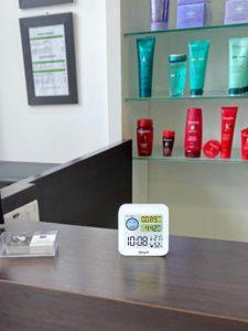 mesureur de CO2 Quaelis dans salon de coiffure