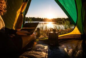 randonnée camping avec IZYWATT
